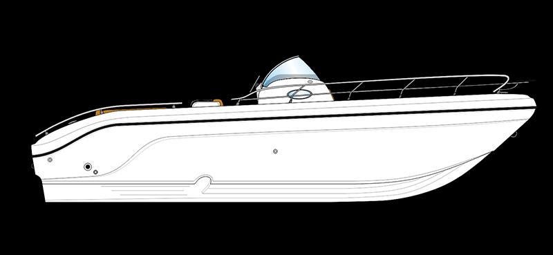 bateau open blanc ranieri voyager 30 vue de coté