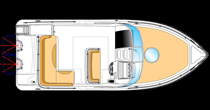 Deck Plan Ranieri Cabin SL 24