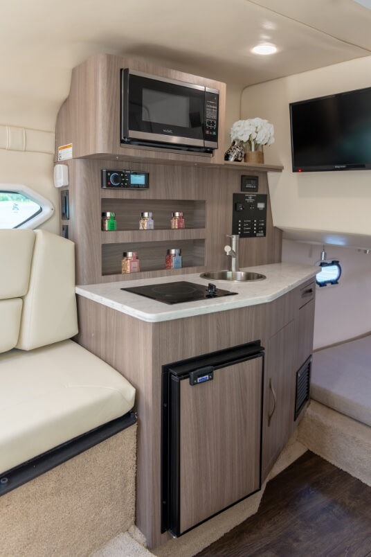 interior american galley Regal 26 very well equipped