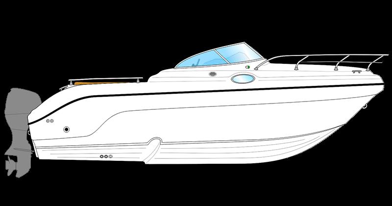 Deck plan cabin cruiser neuf SL 24