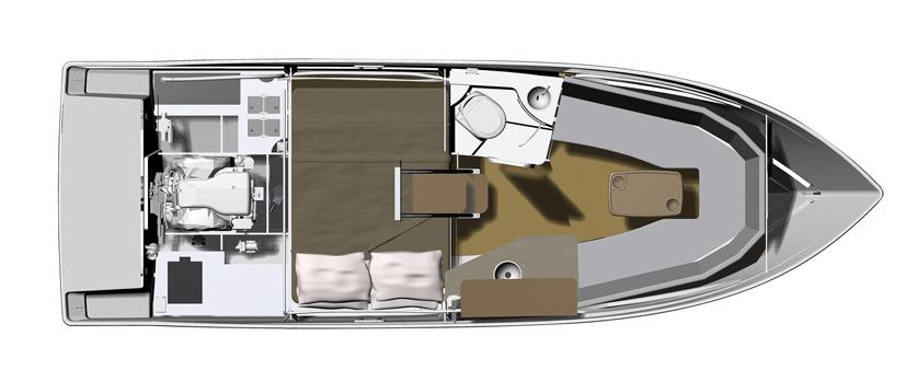 Plan de pont regal 26 Express - plan intérieur