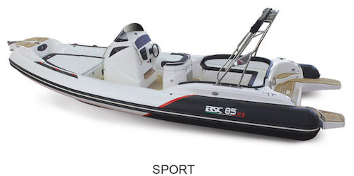 BSC 85 Sport Version, for sale at www.amber-yachting.com
