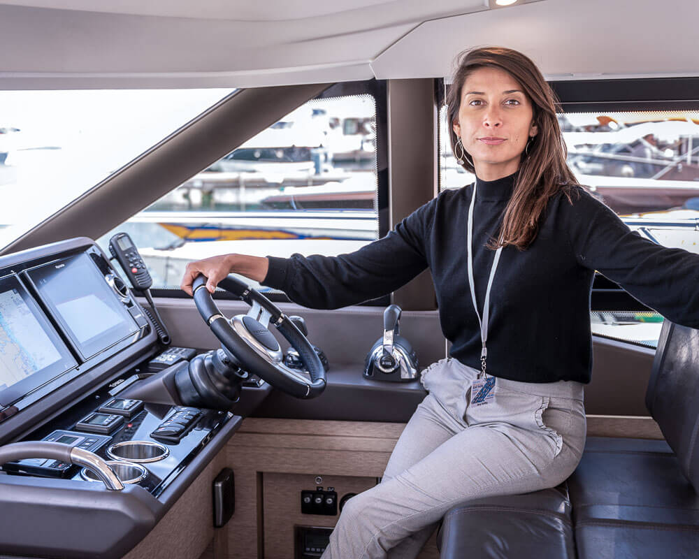 Darcy Jahier Présidente Amber Yachting
